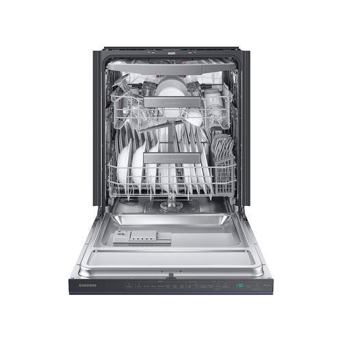 Samsung - Smart BESPOKE Linear Wash 39dBA Dishwasher in Fingerprint Resistant Navy Steel