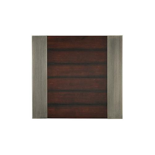 Gallery - Hudson 3-Pack Aged Steel Accent Tables, Cherry Brown