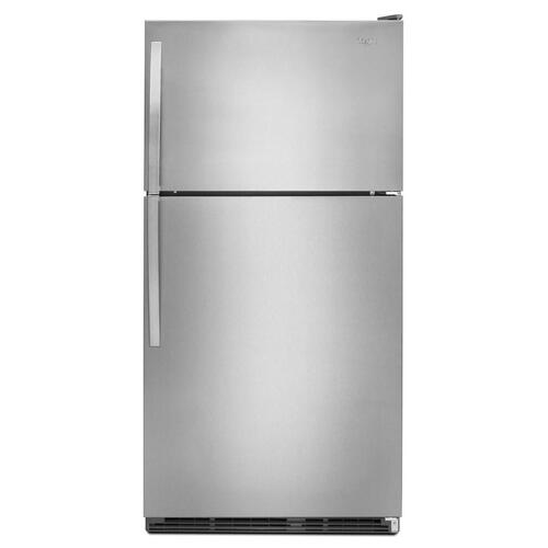 Whirlpool - Refurbished 21 cu. ft. Top Freezer Refrigerator with Optional Icemaker. (This is a Stock Photo, actual unit (s) appearance may contain cosmetic blemishes.  Please call store if you would like actual pictures).  This unit carries our 6 month warranty, MANUFACTURER WARRANTY and REBATE NOT VALID with this item. ISI 45353