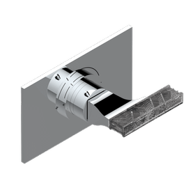 Trim for THG thermostatic valve, rough part supplied with fixing box ref.5 200AE/US