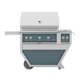 """36"""" Hestan Outdoor Deluxe Grill with Double Side Burner - G_BR__CX_ Series - Pacific-fog"""
