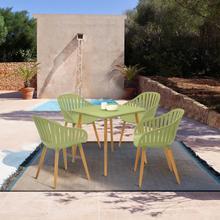 View Product - Nassau Outdoor 5 Piece Sage Eucalyptus Dining Set