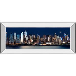 """New York At Night XI"" By James Mcloughlin Mirror Framed Print Wall Art"