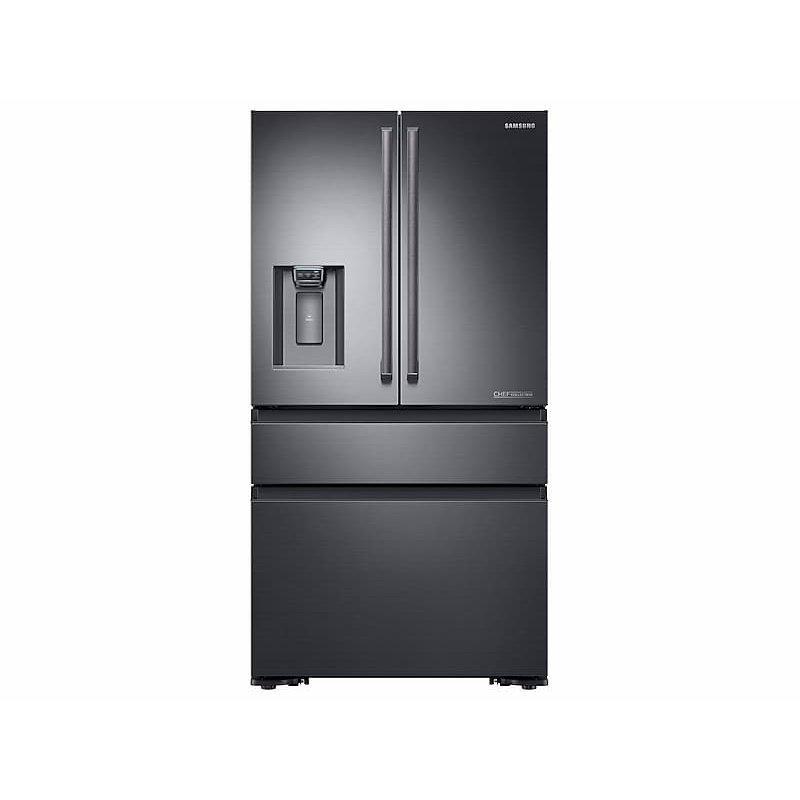 23 cu. ft. Counter Depth 4-Door French Door Freestanding Chef Collection Refrigerator in Matte Black Stainless Steel