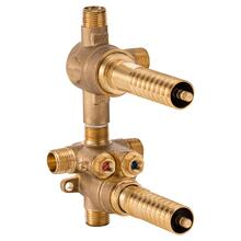 2-Handle Thermostatic Rough Valve with 2-Way Diverter - Shared Function - No Finish