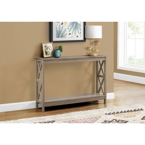 """Gallery - ACCENT TABLE - 48""""L / DARK TAUPE HALL CONSOLE"""