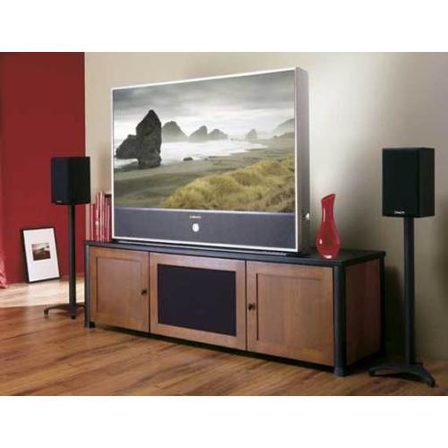 "Product Image - Black Euro Series 28"" tall for small to medium bookshelf speakers"