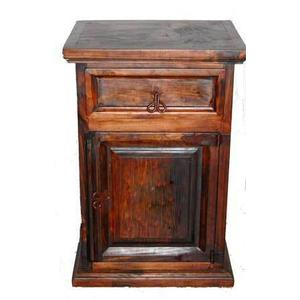 Dark 1 Door 1 Drawer Night Stand