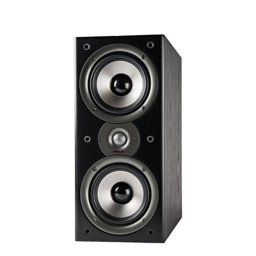 "Bookshelf Speaker Pair with two 5.25"" mid/woofers and one 1"" tweeter in Black"