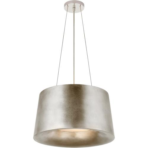 Visual Comfort BBL5089BSL Barbara Barry Halo 2 Light 19 inch Burnished Silver Leaf Hanging Shade Ceiling Light, Small