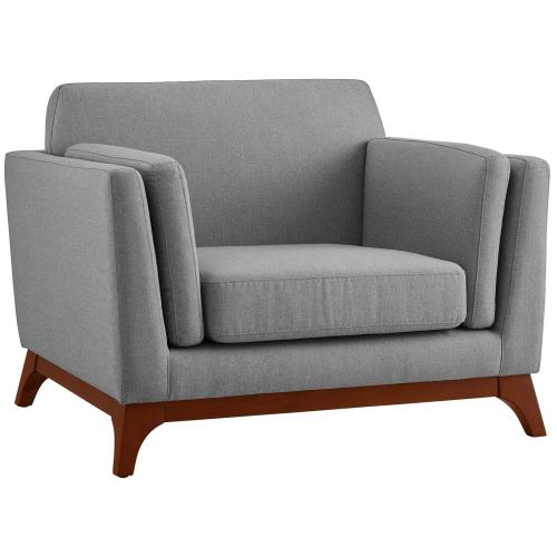 Modway - Chance Upholstered Fabric Armchair in Light Gray