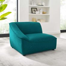 Comprise Left-Arm Sectional Sofa Chair in Teal