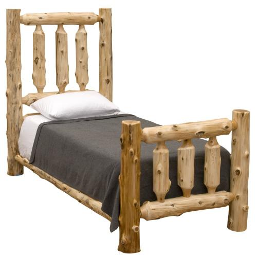 Traditional Bed - Single - Natural Cedar