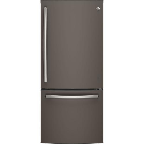 GE 20.9 cu.ft. Bottom Freezer Refrigerator Slate GDE21DMKES