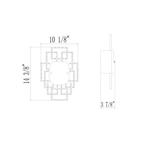"Bellmore BMR-001 14.5""H x 10""W x 3.75""D"