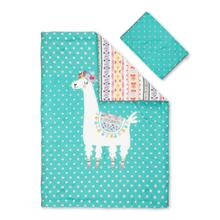 Dreamit - Comforter and Pillowcase Festive Llama, Turquoise, Twin