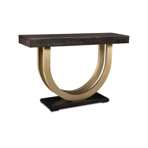 """- Contempo Pedestal 54"""" Sofa Table with Metal Curves"""