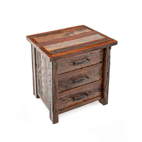 Copperhead 3 Drawer Nightstand