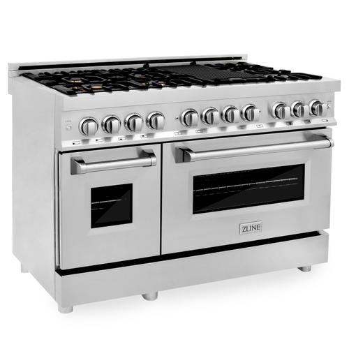 """ZLINE 48"""" Professional Dual Fuel Range in Stainless Steel (RA48) [Color: Stainless Steel]"""