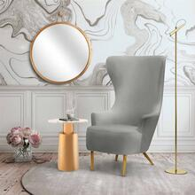View Product - Julia Grey Wingback Chair