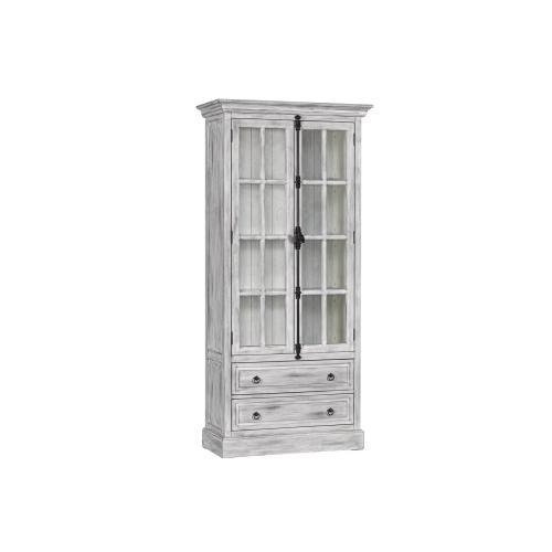 Hudson 2 Drawer 2 Door Curio Cabinet