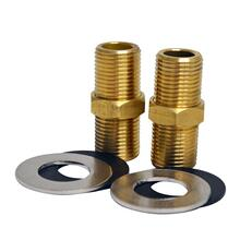 """Product Image - 2"""" Brass Nipple for Whitehaus Utility Faucet Installation - Brass"""