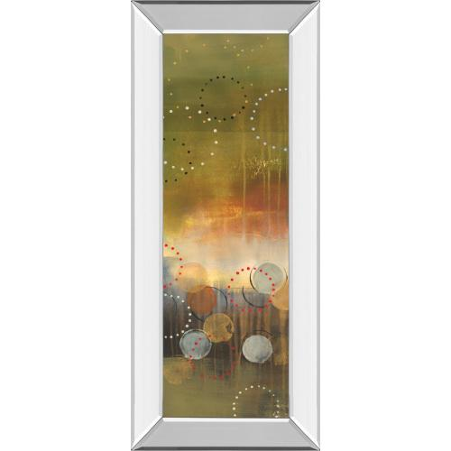 """Circles In Green Panel I"" By Jeni Lee Mirror Framed Print Wall Art"