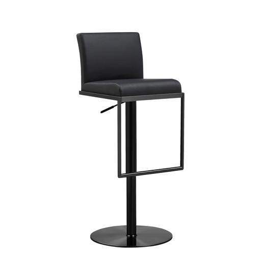 Tov Furniture - Amalfi Black on Black Steel Barstool