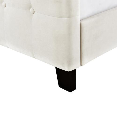 Accentrics Home - King Modern Wing Bed in Ivory