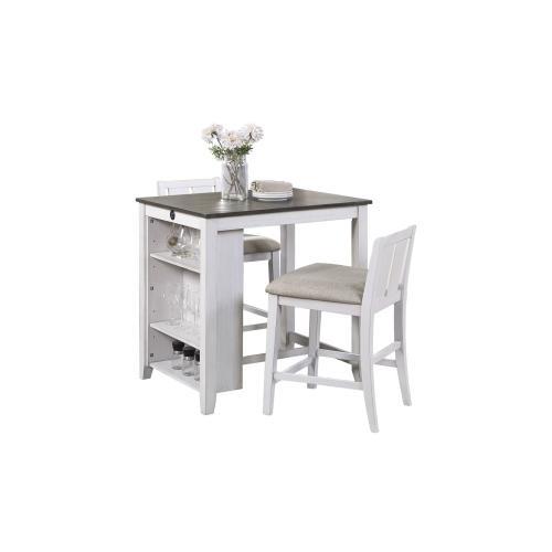 Homelegance - Daye Gray/White Counter Height Stool