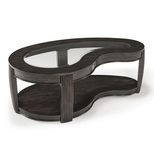 Shaped Cocktail Table w/casters