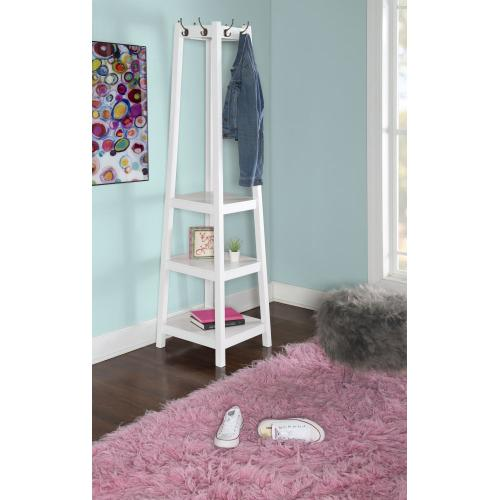 3-tier and 8-hook Coat Rack, White