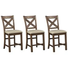 Moriville Dining Room Counter Height Bar Stool (set of 3)