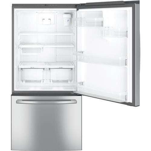 Bottom Mount Refrigerator 25 cuft Stainless Steel GE - GDE25ESKSS