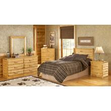 Lodge Pine Headboard - Full Size