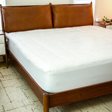 """Mattress Pad - White Deep Pocket Mattress Cover - Queen Size - Quilted Cotton Top - Hypoallergenic - Fits 8""""-21"""" Mattresses"""