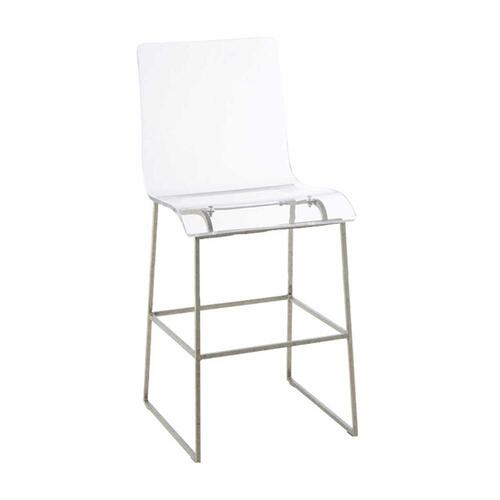 """King 24.75"""" Counter Stool - Silver"""