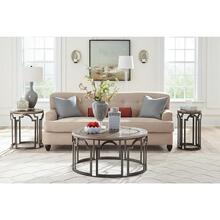 View Product - Estelle - Round Coffee Table - Washed Gray Finish