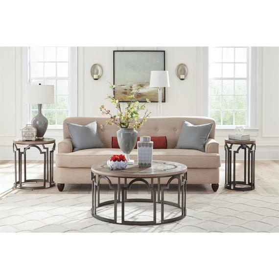 Riverside - Estelle - Round Side Table - Washed Gray Finish