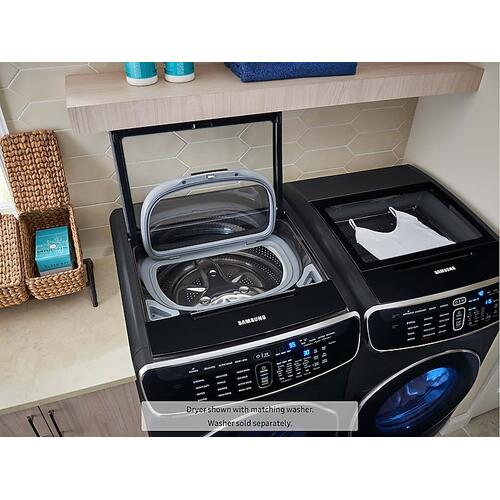 6.0 cu ft. Smart Washer with Flexwash in Black Stainless Steel