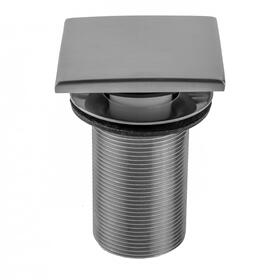"Black Nickel - Extra Long Thread Square Toe Control Drain Strainer - 3"" Long Thread"