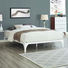 View Product - Ollie King Bed Frame in White