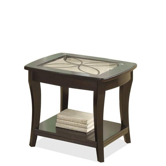 Riverside - Annandale - Side Table - Dark Mahogany Finish