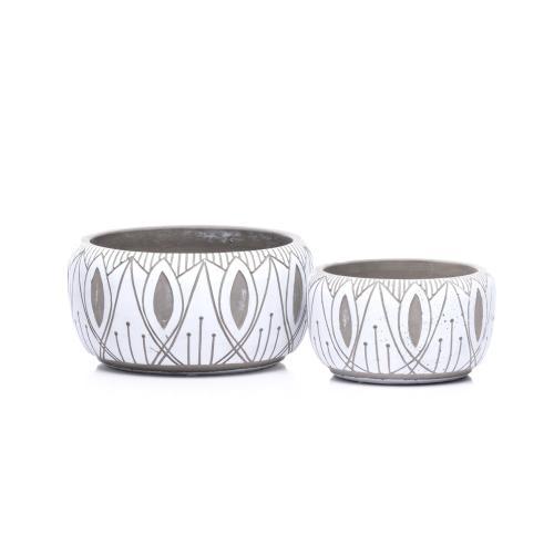 Alfresco Home - Lagos Bowl Petits Pot- Set of 2 (Min 4 sets)