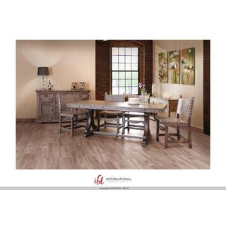 See Details - Wooden dining table top & base