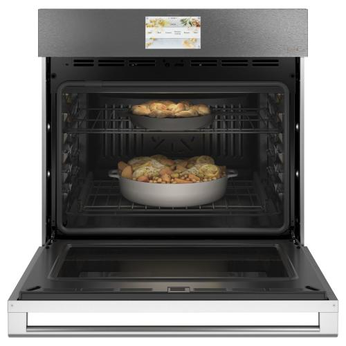 "Café 30"" Smart Single Wall Oven with Convection in Platinum Glass"