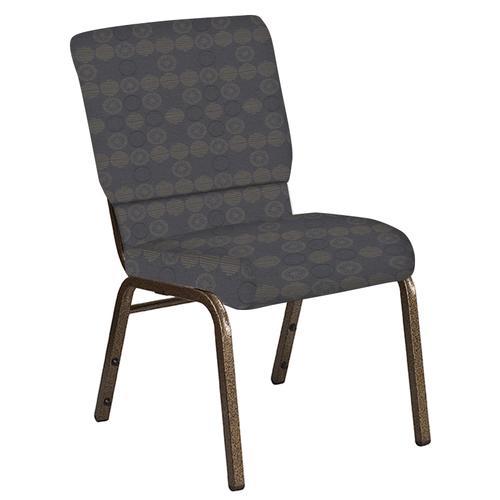 Flash Furniture - 18.5''W Church Chair in Galaxy Steel Fabric - Gold Vein Frame