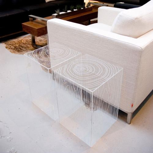 Timber Table Clear Acrylic