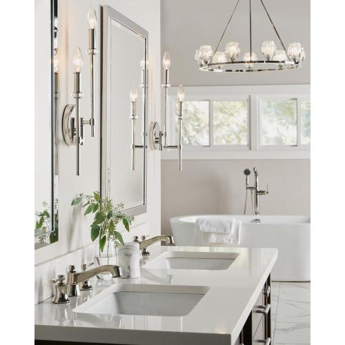 Bryan Double Sconce Polished Nickel
