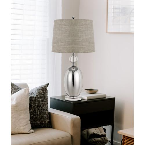 150W 3 Way Perth Glass Table Lamp